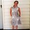 Cowl Neck Dress White and Black Dress Pocket Dress